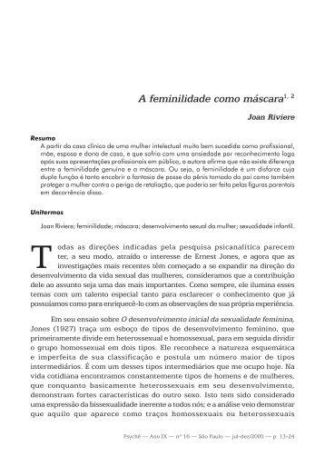 A feminilidade como máscara1, 2