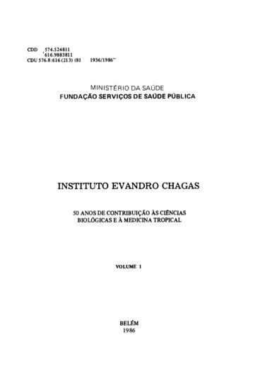 INSTITUTO EV ANDRO CHAGAS - Governo do Estado do Pará