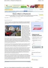 Entre el Ral.li i el Patchwork - Ajuntament de Sitges