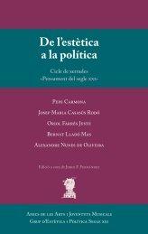 De l'estètica a la política - Grup d'estètica i política segle XXI