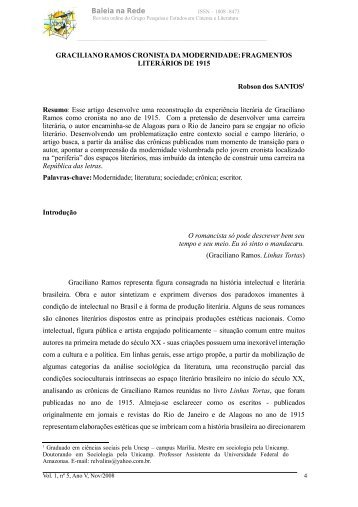 Graciliano Ramos cronista da modernidade - Unesp