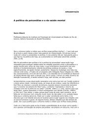 APRESENTAÇÃO - Revista Estudos e Pesquisas em Psicologia - Uerj