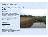 Progetto di riqualificazione dei canali irrigui - Provincia di Milano