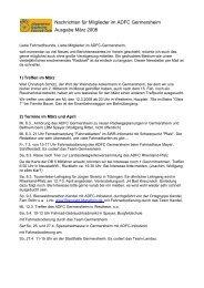 Nachrichten für Mitglieder im ADFC Germersheim