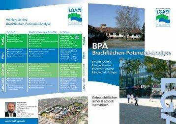 Brachflächenpotenzialanalyse - LGA