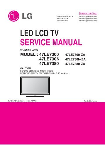 Led Lcd Tv Schematics And Exploded View