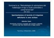 """Seminario su """"Metodologie di valutazione dei fabbisogni irrigui a ..."""
