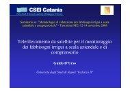Telerilevamento da satellite per il monitoraggio dei fabbisogni irrigui ...