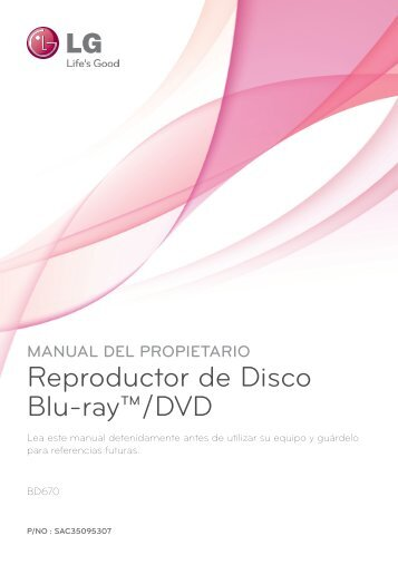 Reproductor de Disco Blu-ray™/DVD - LG Electronics