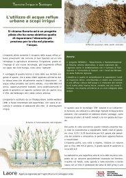 L'utilizzo di acque reflue urbane a scopi irrigui - Sardegna Agricoltura