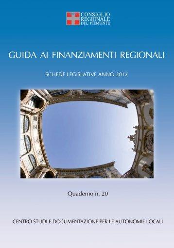 guida ai finanziamenti regionali - Consiglio regionale del Piemonte