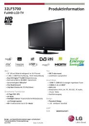 32LF5700 Produktinformation FullHD-LCD-TV - LG Electronics