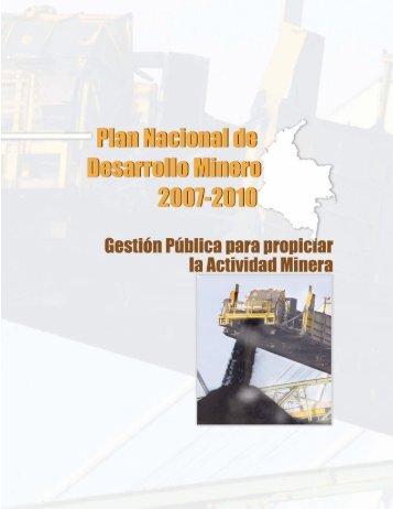 Plan Desarrollo Minero 2010 - Ministerio de Minas y Energía