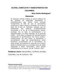 elites, conflicto y narcotráfico en colombia - Otra Mirada del Conflicto