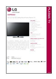 PLASMA TV - LG Electronics