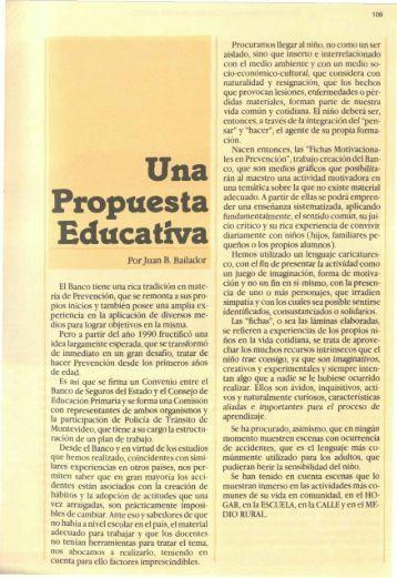 Una Propuesta Educativa - Banco de Seguros del Estado