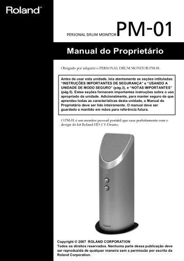 Manual do Proprietário - Roland