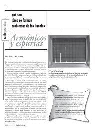 Armónicos y espurias - Radio-Noticias, revista digital de radioafición