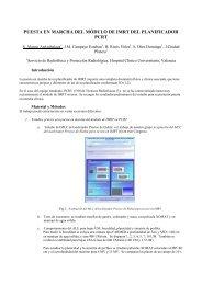 puesta en marcha del módulo de imrt del planificador pcrt