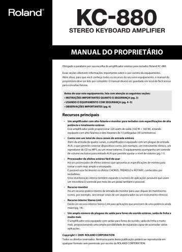 MANUAL DO PROPRIETÁRIO - Roland