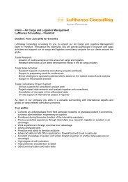 Human Resources Intern – Air Cargo and Logistics Management ...