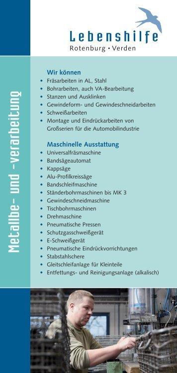Metallbe- und -verarbeitung - Lebenshilfe Rotenburg Verden
