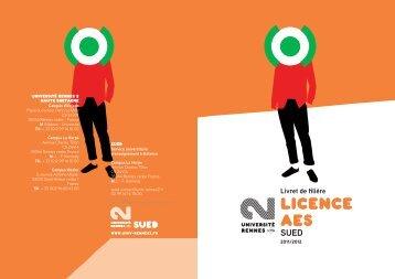 Licence AES - Université Rennes 2