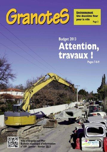 Granotes n°109 - Ville - Argelès-sur-Mer