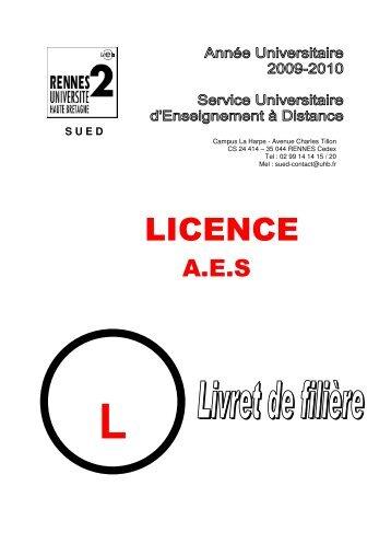 licence 1 - Université Rennes 2