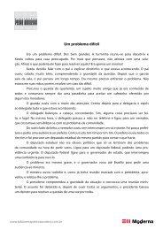 Um problema difícil - Pedro Bandeira