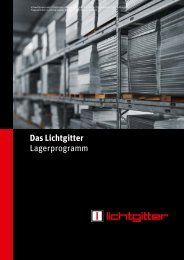 Das Lichtgitter Lagerprogramm - Lichtgitter GmbH