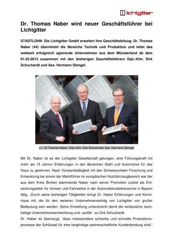 Ganzen Bericht lesen - Lichtgitter GmbH