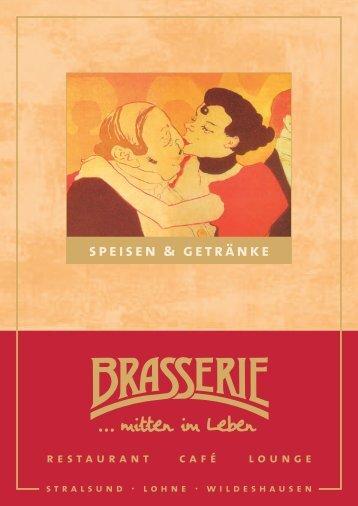 Brasserie Stralsund Speisekarte