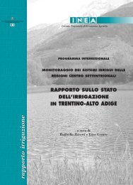 Rapporto sullo stato dell'irrigazione in Trentino-Alto Adige - Inea