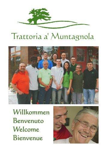 Speisekarte Muntagnola Berlin in 28 Sprachen