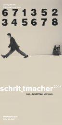 Flyer Schrittmacher Festival 2004 - Ludwig Forum für ...