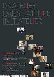 Flyer zur Ausstellung 'Im Atelier' - Ludwig Forum für Internationale ...