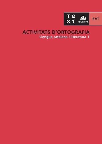 PDF Activitats d'ortografia: Normes d'ús / Més - laGalera.Text