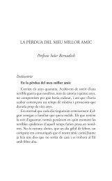 LA PÈRDUA DEL MEU MILLOR AMIC Perfecte Soler Bernadich - Tinet