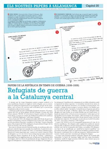 Refugiats de guerra a la Catalunya central