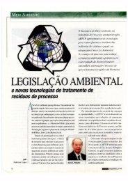 Legislação ambiental e novas tecnologias de ... - Celso Foelkel
