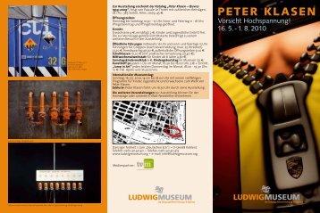 PETER KLASEN - Ludwig Museum Koblenz