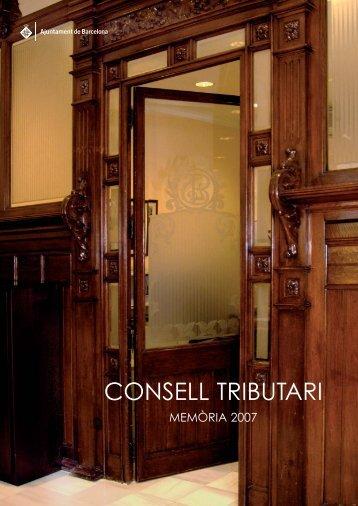 CONSELL TRIBUTARI - Ajuntament de Barcelona