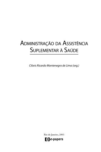 administração da assistência suplementar à saúde - IBICT - Instituto ...