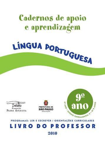 LP_conteudo_Prof_9Ano - Secretaria Municipal de Educação