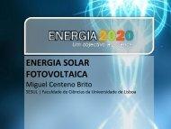 energia solar fotovoltaica - Energia 2020 - Universidade de Lisboa
