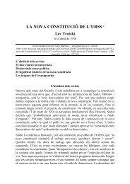 LA NOVA CONSTITUCIÓ DE L'URSS1 Lev Trotski