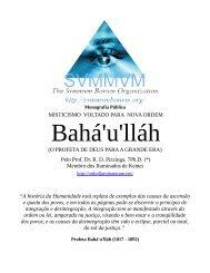 O Pensamento de Bahá'u'lláh - Ordo Svmmvm Bonvm