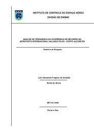INSTITUTO DE CONTROLE DO ESPAÇO AÉREO ... - Redemet