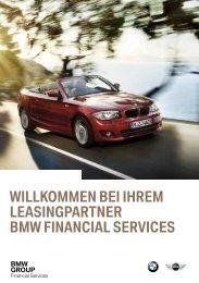 WILLKOMMEN BEI IHREM LEASINGPARTNER BMW FINANCIAL SERVICES
